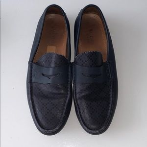 Men's Navy Gucci Loafers LAST DAY